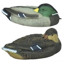 "Nitehawk Male & Female 15"" Shooting/Hunting Floating Duck Decoys, Mallard/Drake"