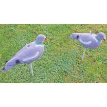 2 x Nitehawk Hunting Shooting Flocked Full Body Fake Bird Pigeon Decoy Shell