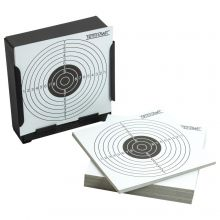 14cm Card Target Holder Pellet Trap + 100 Targets For Air Rifle/Airsoft Practice