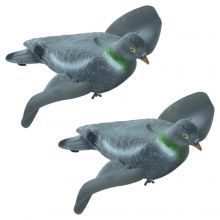 2 x Nitehawk Flocked Spinning Wing Pigeon Decoys For Shooting Magnet/Bouncer