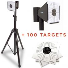 Nitehawk Air Rifle Airsoft Pistol Shooting Target Stand Holder + 100 Targets