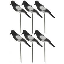 Nitehawk Flocked Magpie Decoys x 6