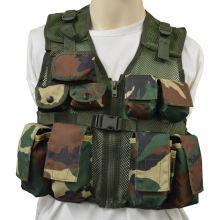 Nitehawk Kids Assault Vest - WOODLAND CAMO