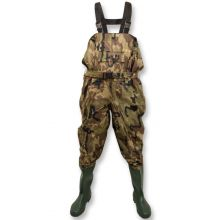 Michigan Nylon Chest Waders Including Belt - CAMO SIZE 6