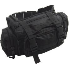 Nitehawk MOLLE Bum Bag/Waist Pack - BLACK