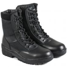 Nitehawk Army/Military Patrol Black Leather Combat Boots Outdoor Cadet Security